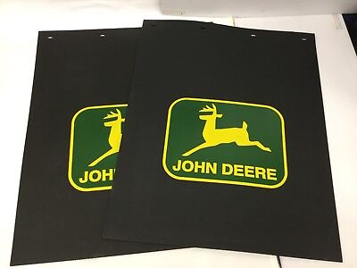 Contemplative John Deere Semi Medium Or Light Duty Dually Truck Mudflaps pair Durable Modeling