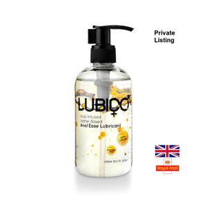 Lubido ANAL 250ml Paraben Free Water Based Lubricant Pump Bottle Condom Safe