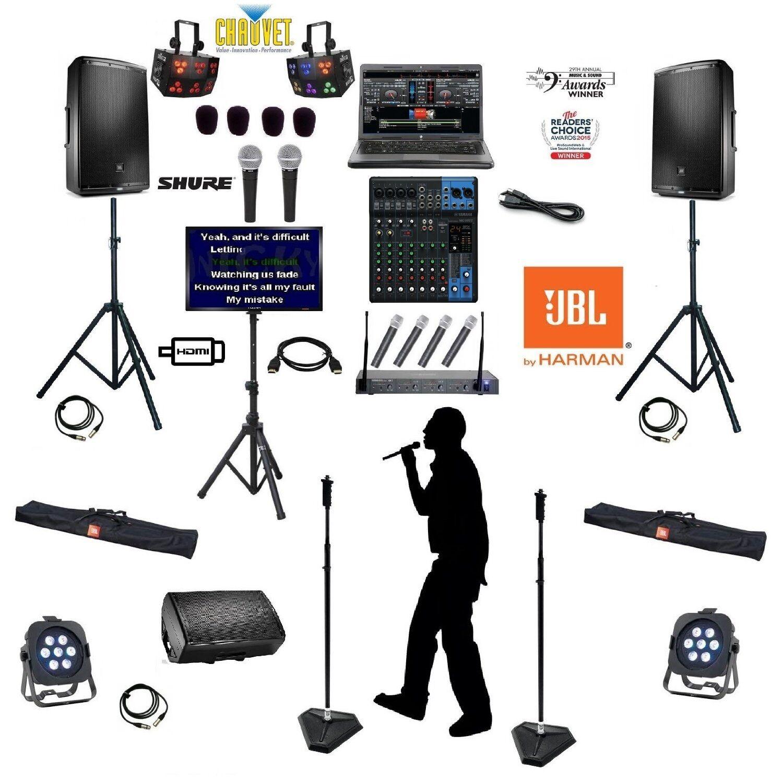 Details zu Computer LAPTOP DJ KJ PROFESSINAL KARAOKE MACHINE System with  Eon 600 Speakers