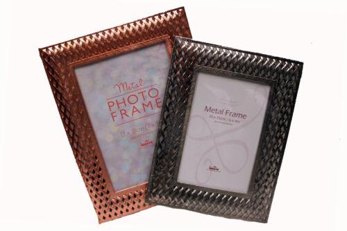 Innova Metal Lattice Picture Frames Pewter or Rose Gold