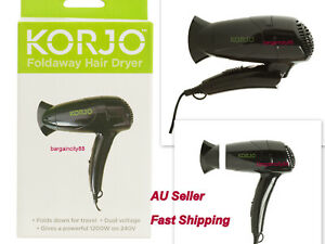 Hair Dryer Travel Electric Mini Foldable Compact Cold Hot 2 Heat Diffuser 1200W
