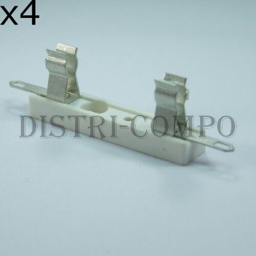 6.3A Porte fusible 6x32mm à cosses 250V max lot de 4
