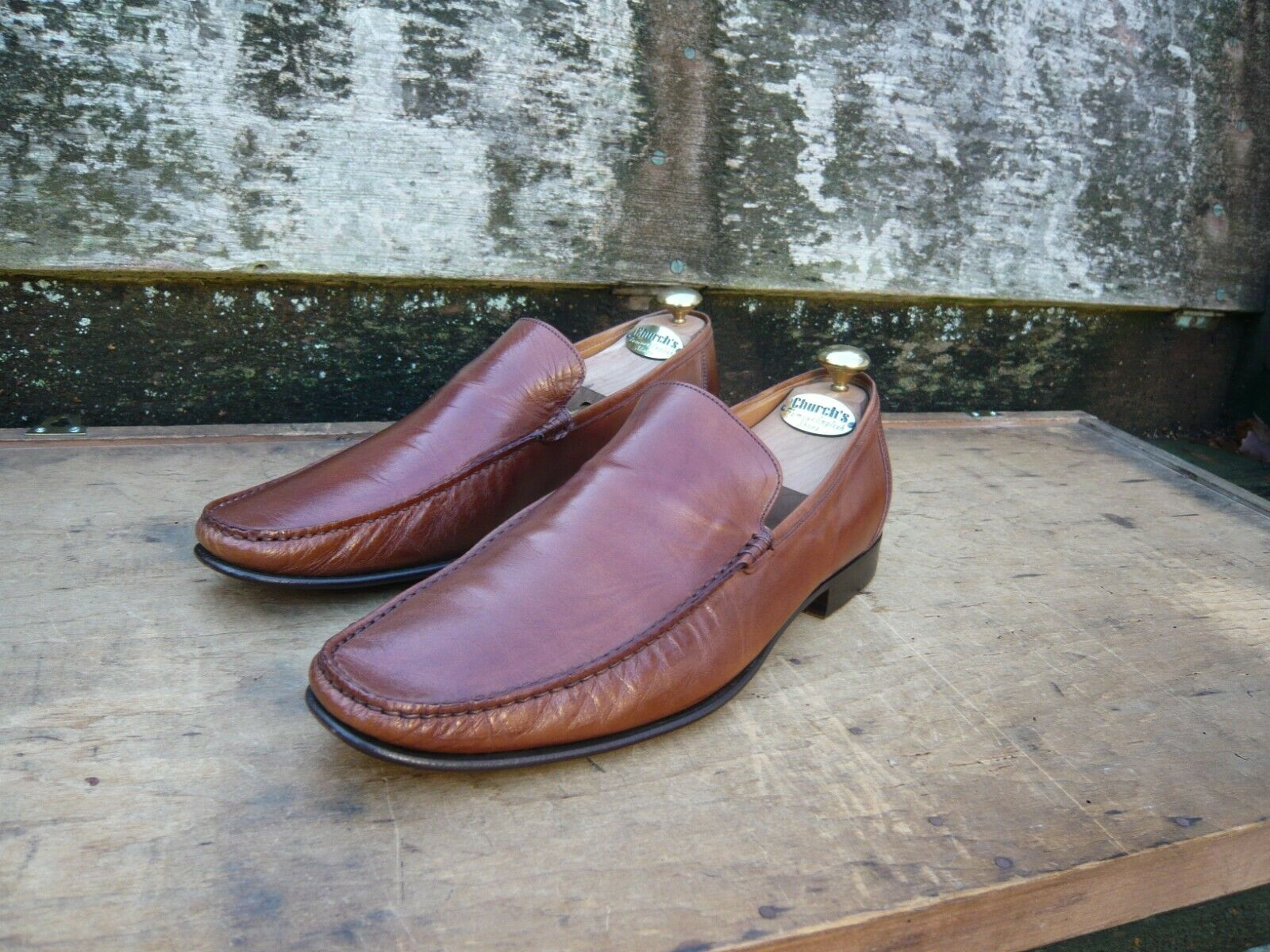 CHEANEY LOAFERS MEN'S schuhe – braun   TAN - UK 10 –  SUPERB CONDITION