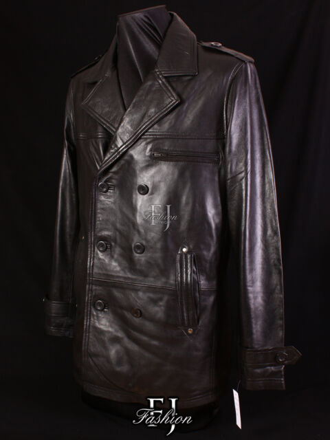 GOODFELLAS BLACK (9060) Mens New Smart Style Lambskin Leather Jacket