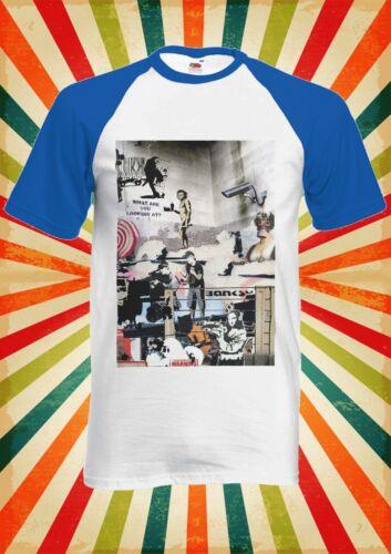 Banksy Street Art Graffiti Cool Men Women Long Short Sleeve Baseball T Shirt 619