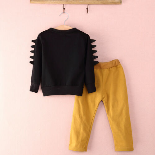 UK Kids Baby Boy Autumn Winter Clothes Tops T-shirt Pants 2PCS Outfits Tracksuit