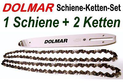 """1,1 Nutbreite 2 Ketten 3//8/"""" 46 Trgl Kettensäge Dolmar ES PS 1 Schwert 30cm 12/"""""""