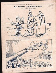 WWI-Caricature-Pickelhaube-West-Front-Map-Russia-Austria-Carte-1915-ILLUSTRATION