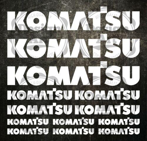 Komatsu XXL aufkleber sticker bagger excavator 13 Stücke Pieces