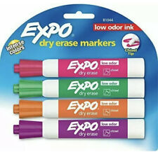 Expo Low Odor Dry Erase Markers Chisel Tip Bright Colors 4 Pack