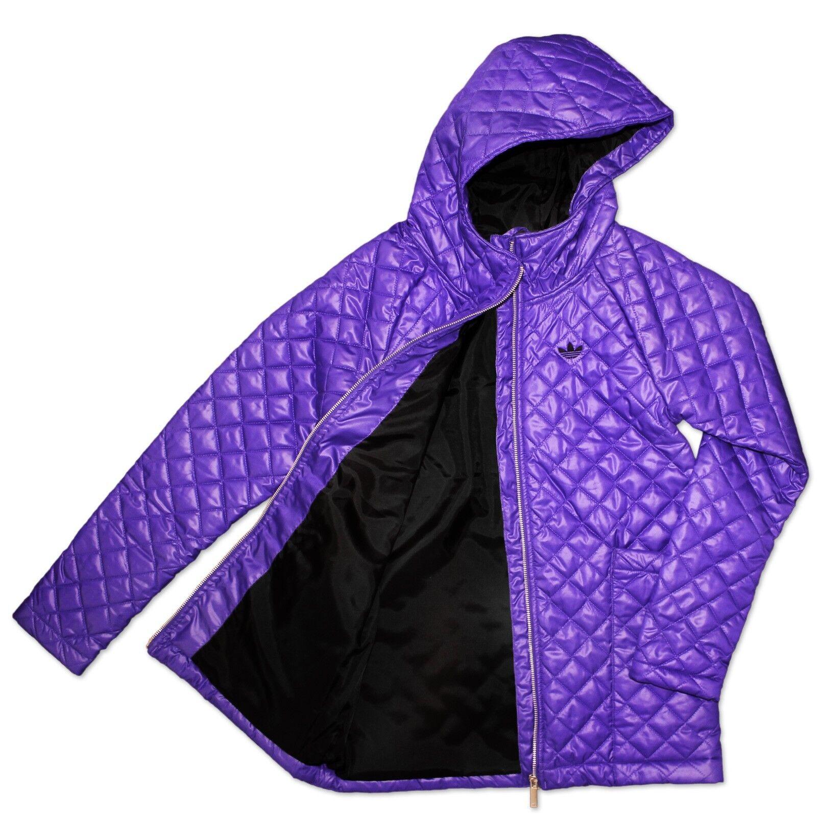Adidas Originals Long Veste Parkaschnitt Matelassée capuche Pourpre Violet 40