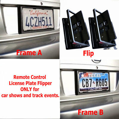 USA Remote Control Hide Away Turning License Plate Frame License Plate Flipper