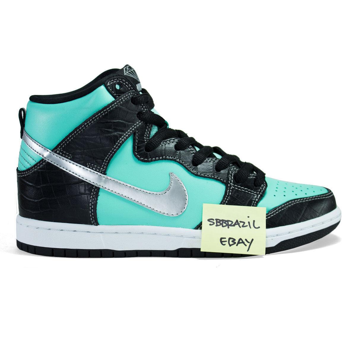 NIKE SB DUNK HIGH DIAMOND X TIFF US 11 huf max what medicom jordan lance Wild casual shoes