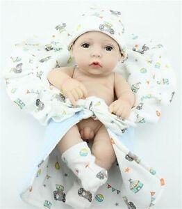 "11"" Newborn Infant Boy Baby Dolls Reborn Silicone Vinyl Baby"