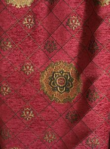 Chenille-Renaissance-Medallion-Home-Decor-Upholstery-Sold-By-the-Yard-58-034