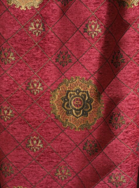 Chenille,Renaissance Medallion, Home Decor Upholstery, Sold By the Yard, 58