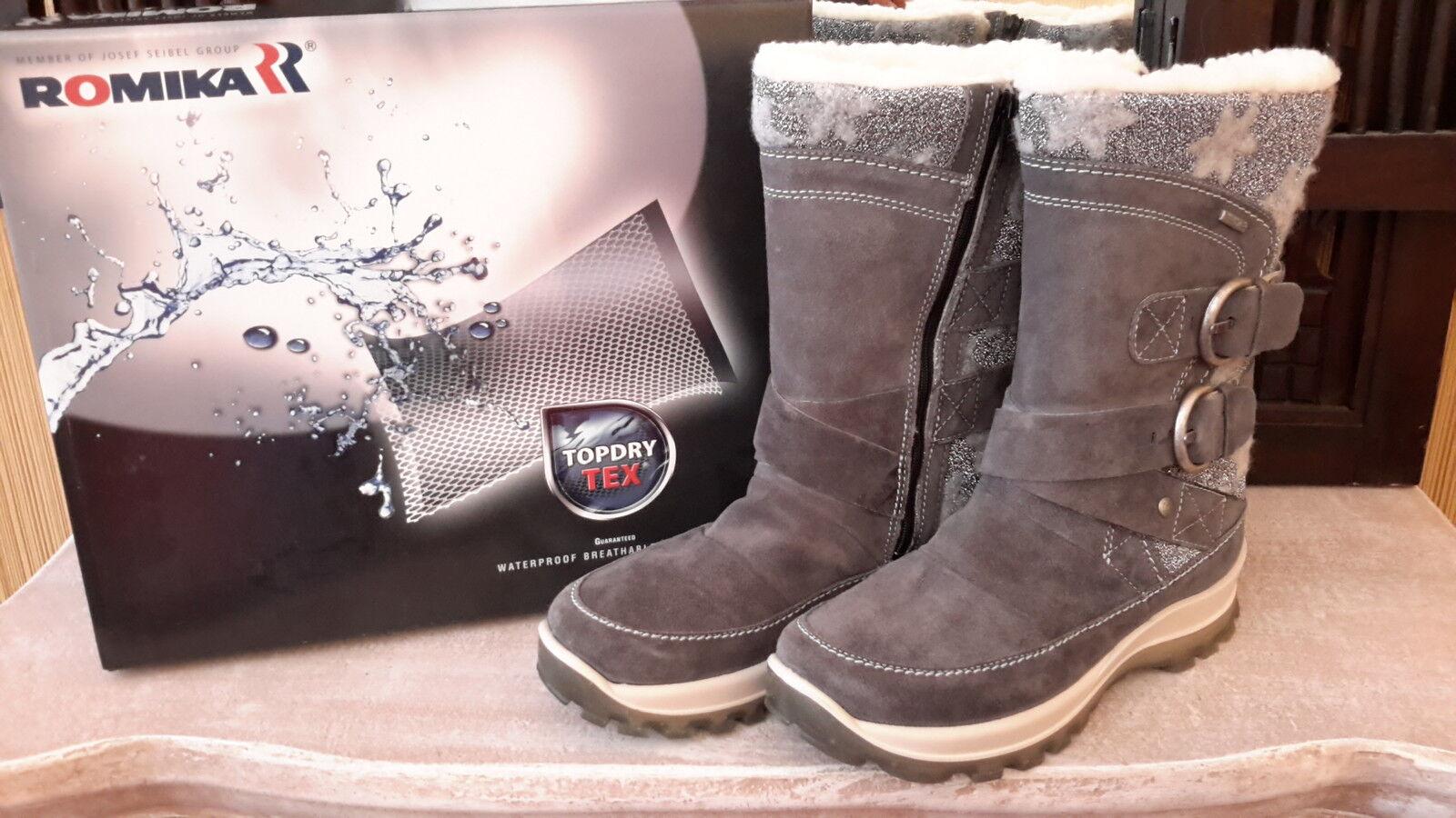 romika alaska nebel boots damen schnee stiefel gr 38 neu