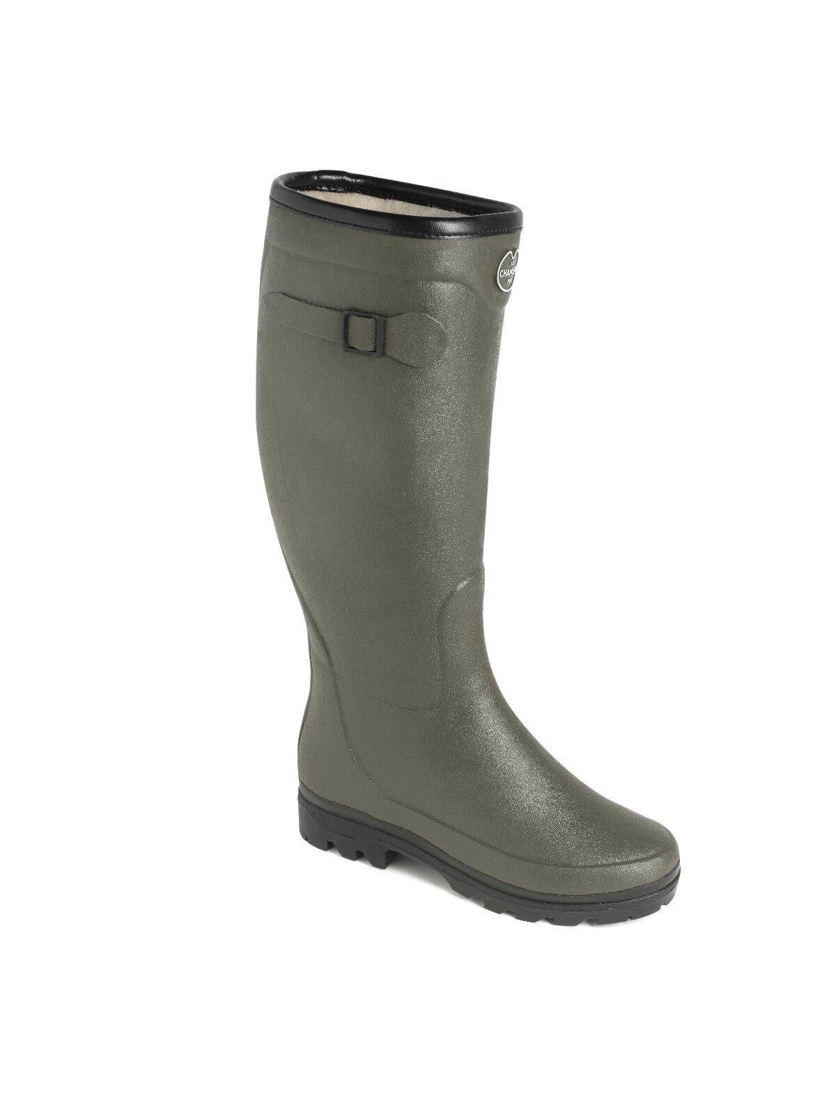 Le Chameau país lady fouree con líneas botas de lluvia