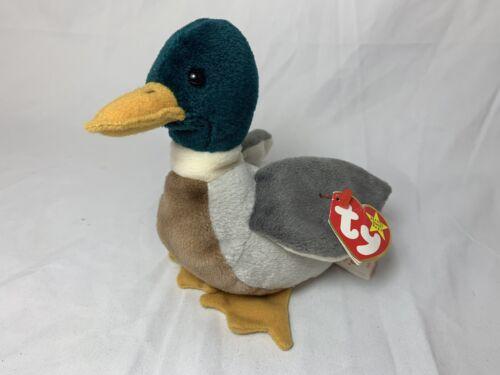 TY Jake Beanie Baby Mallard Duck With Tag