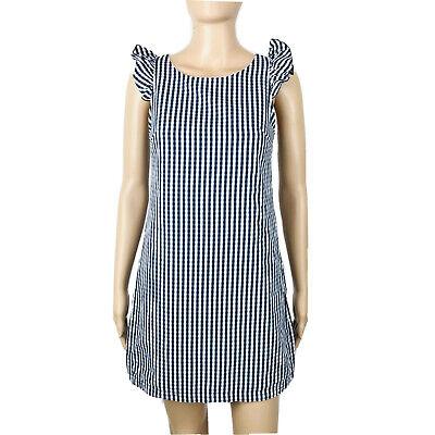 Zara Trafaluc donna Motivo a Quadretti Blu NavyBianco Vestito Taglia XS | eBay