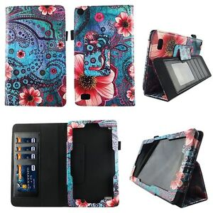 Pik Flower Vintage  Fit for NuVision 8 Inch Tablet Case Cover ID Slot