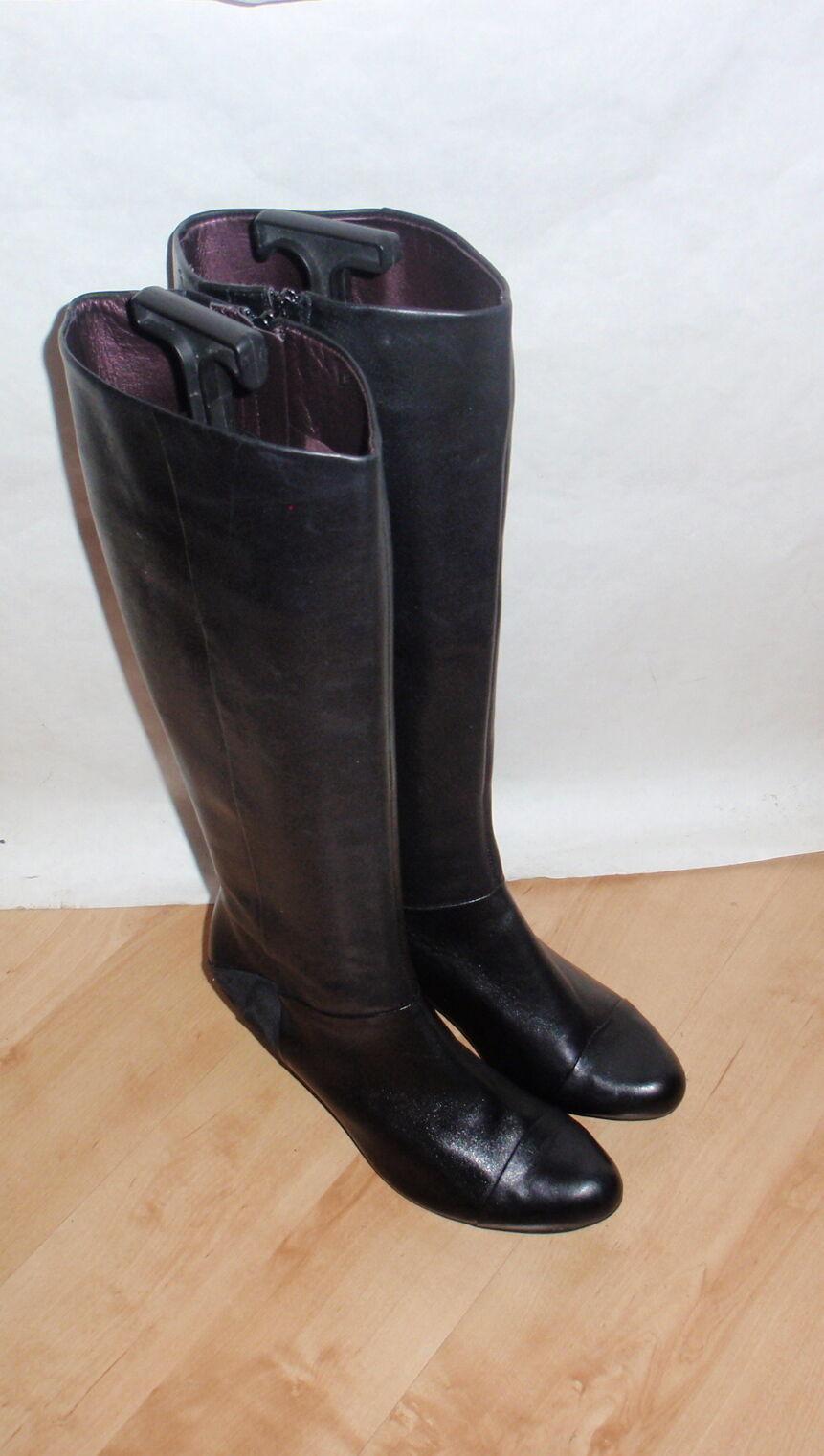 Nuevo Clarks Botas Para Mujer Cuero Largo Negro Largo Cuero Hasta La Rodilla-Varios Tamaños 5f10a2