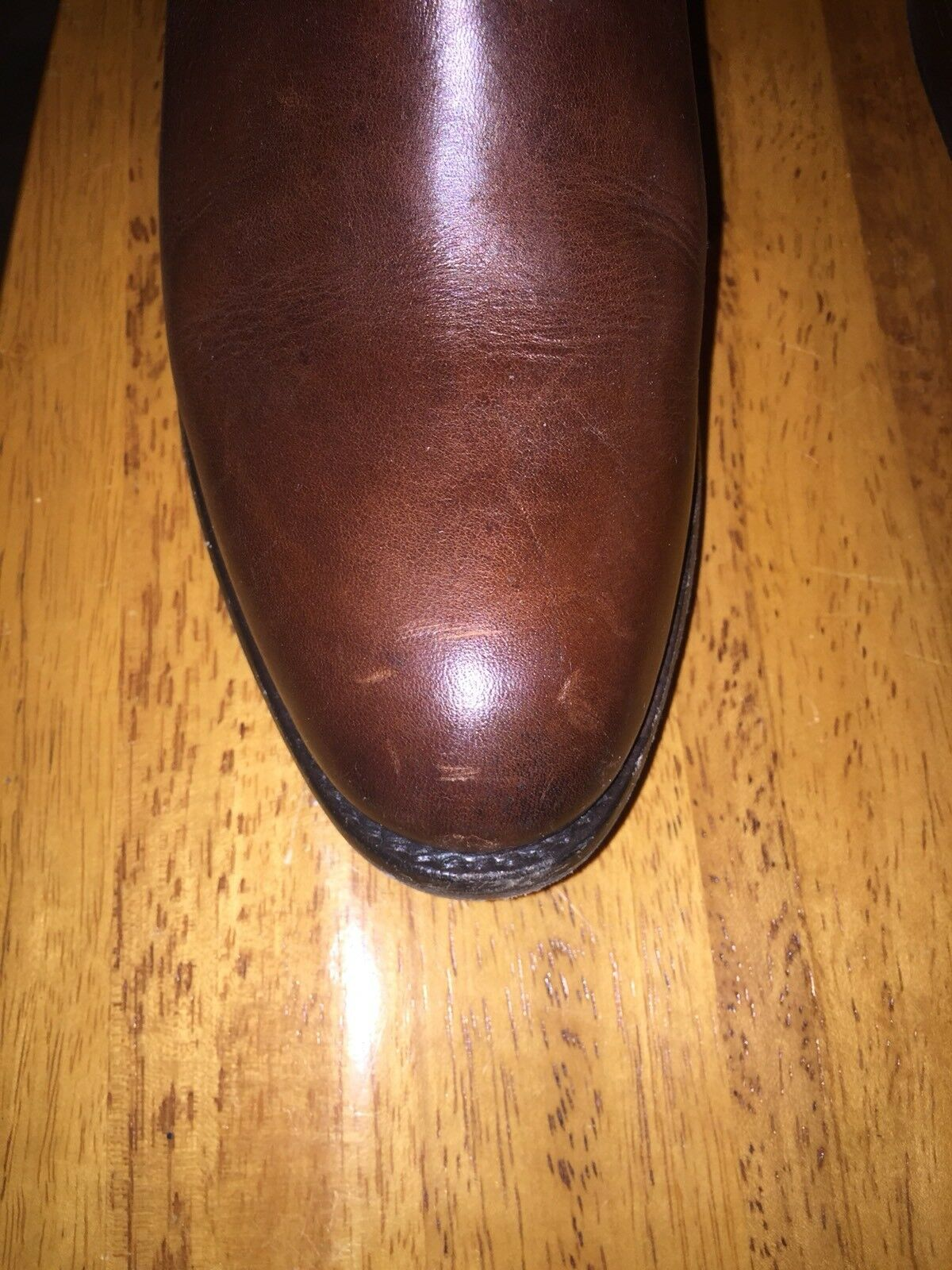 FRYE WOMEN'S LINDSAY PLATE LEATHER RIDING TALL Cognac 76976 BOOTS 398 Size 6