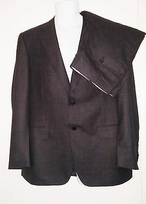 CANALI 1934 Suit - 100% Wool - Black Micro Check - Dual Vent ($1895 Retail) 44R
