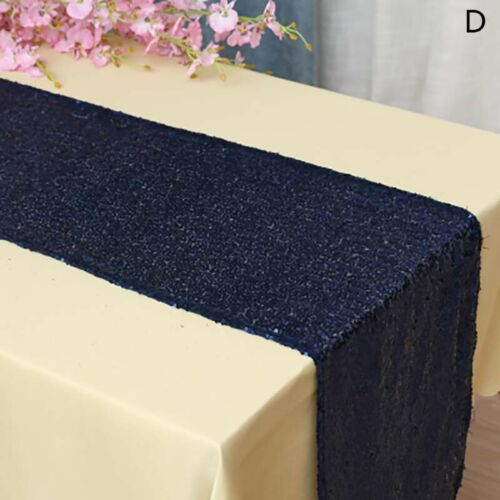 Glitter Sequin Table Runner Desk Home Wedding Tablecloth Cover Decor Party