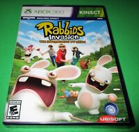 Rabbids Invasion Microsoft Xbox 360 Kinect Factory Sealed Free Shipping
