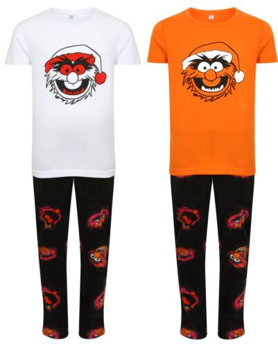 PYJAMA SET MUPPETS ANIMAL CARTOON KIDS CHILDRENS FLEECE NEW BED SLEEP CHARACTER