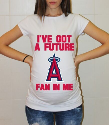 Los Angeles Angels Shirt Pregnancy Shirt Maternity T-shirt Baby Shower Baseball