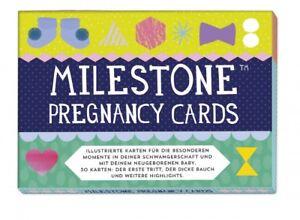 Milestone Pregnancy Cards Kartenset Schwangerschaft Wochenbett Fotokarten Neueste Technik Bücher Baby