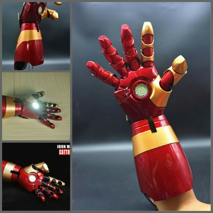1 1 Mk43 Armadura Iron Man luz LED mano Blaster Guantelete usable cos props DHL