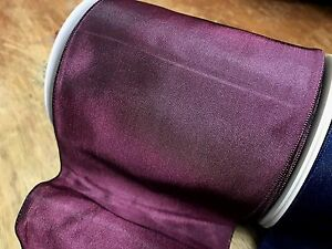VINTAGE-3-3-4-034-FRENCH-RIBBON-GRAPE-BERRY-wire-SOLID-1yd-Made-in-France