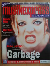 MUSIKEXPRESS 4/1997 Garbage Depeche Mode Star Wars Helmet Amanda Marshall Bush