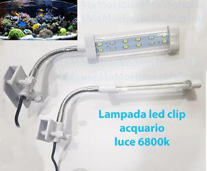 Lampada clip led bordo illuminazione per acquario esterna luce