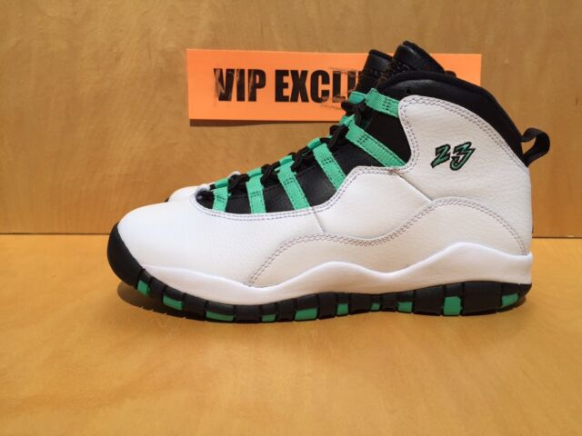 official photos 20bc2 d7548 Nike Air Jordan 10 Retro X GG GS White Verde Black Bleached Turquoise  705180-118