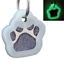 Glitter-Paw-Print-Pet-ID-Tags-Custom-Engraved-Dog-Cat-Tag-Personalized thumbnail 28