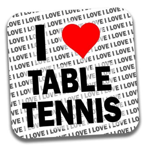 Stocking Filler I Love Tennis de Table Boissons Sous-Verre-Cadeau-Anniversaire
