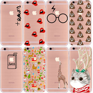 2da39ae8a6bb4 Details about Hot Simple TPU Cute Soft Clear Hybrid Phone Cases For iPhone  5s SE 6 6s 7 Plus