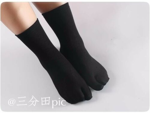 3 Pairs Two-toed Tabi Socks Finger Toe Socks Men Women Clogs Cosplay Slippery