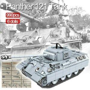 Lego-ww2-Tank-Phanter-Panzer-Allemand-Vehicule-Militaire-Jouet-Construction-char