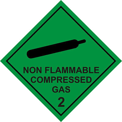 WARNING MAGNETIC SIGN NON FLAMMABLE COMPRESSED GAS