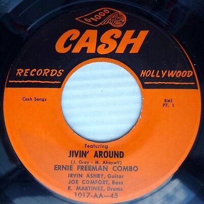 ERNIE FREEMAN COMBO r&b instrumental vg++ CASH 45 JIVIN ...
