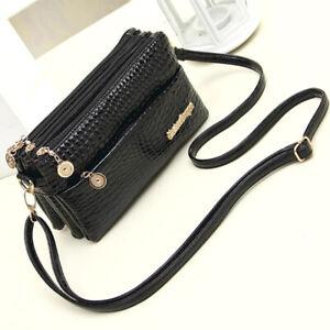 Women-Leather-Zipper-Crossbody-Messenger-Shoulder-Bag-Purse-Handbag-Wallet