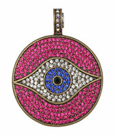 Kirks Folly All Seeing Eye Magnetic Enhancer For Necklace (brasstone/fuchsia)