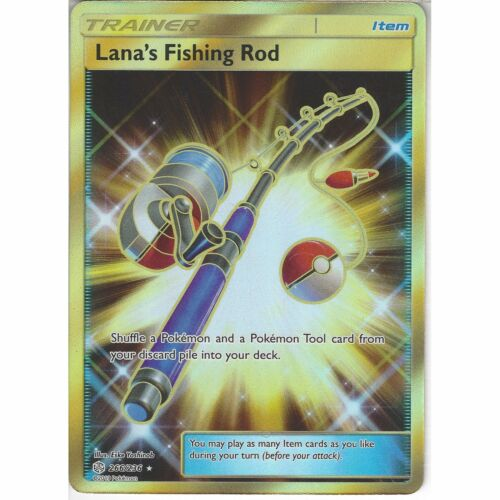 266//236 Lana/'s Fishing RodSecret Rare CardSM12 Cosmic Eclipse Pokemon TCG