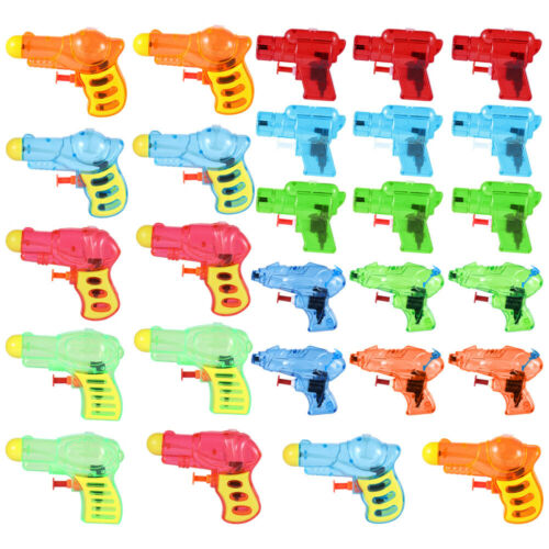 24PCS Assorted Small Colorful Water Blaster Water Gun for Playing Children Beach