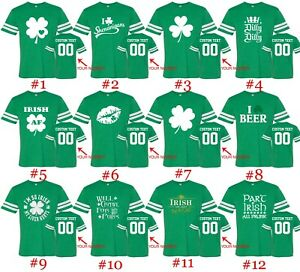 8f3f134ee Image is loading Customized-St-Patricks-Day-Tee-Football-Jersey-Shirts-